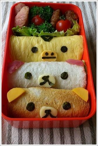 パン弁当 詰め方